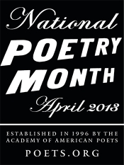 National Poetry Month April 2013 Badge
